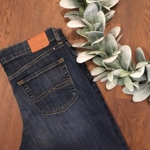 Lucky Brand The Bermuda Midi Dark Wash Jean Shorts